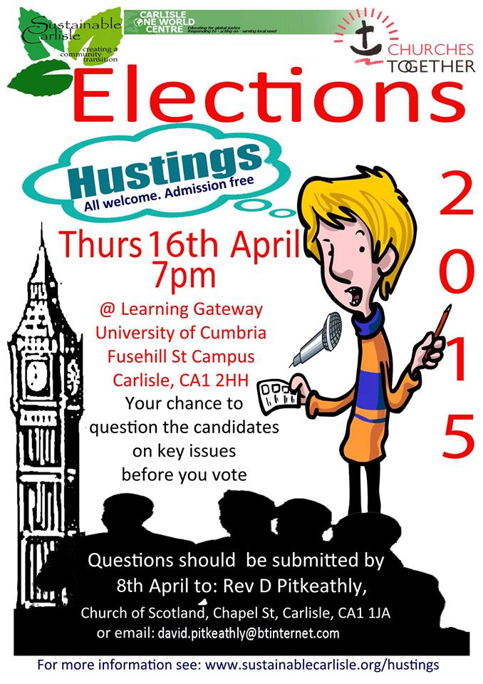 Carlisle One World Centre Election 2015 Hustings