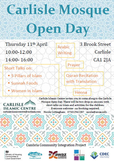 Carlisle Mosque Open Day | Equality Cumbria