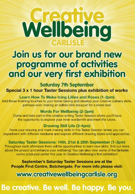 Creative Wellbeing Sept 13