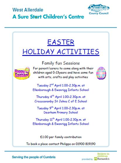 Easter Holiday Activities 2013