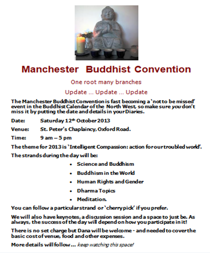 Manchester Buddhist Convention