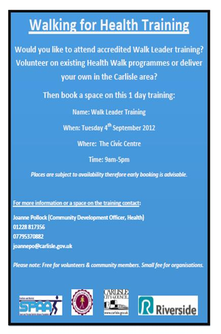 Walk For Health Training 08.12